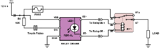 Touch Switch Driver with LED connection diagram